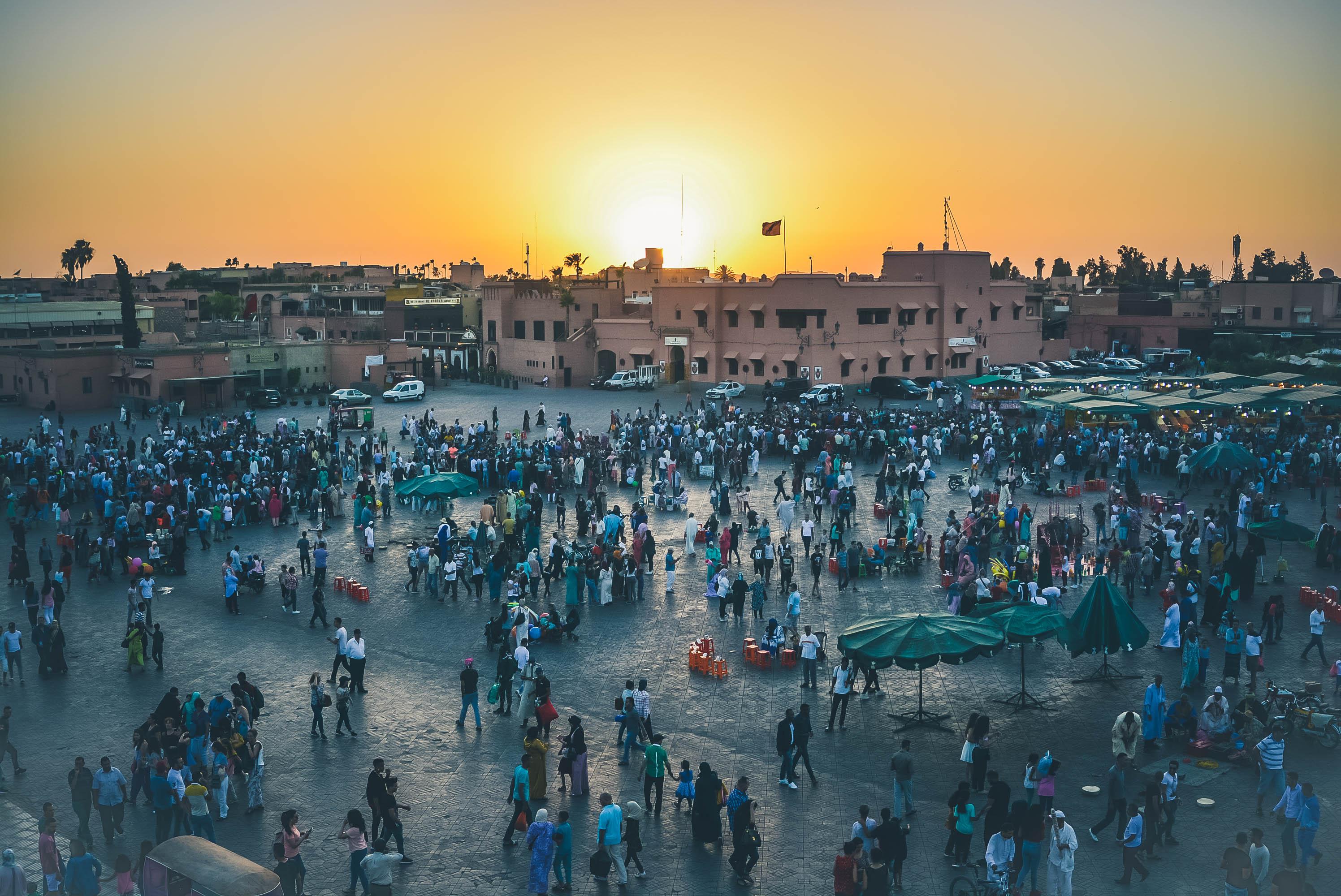 maroc marrakech jemaa el fna