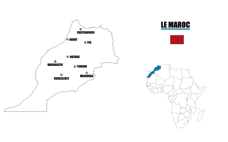 maroc carte voyage
