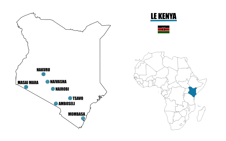 kenya carte afrique map