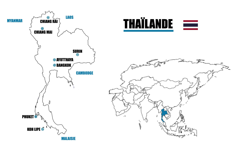 carte thaïlande voyage blog