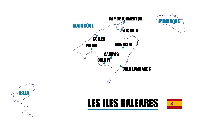 carte majorque iles baléares
