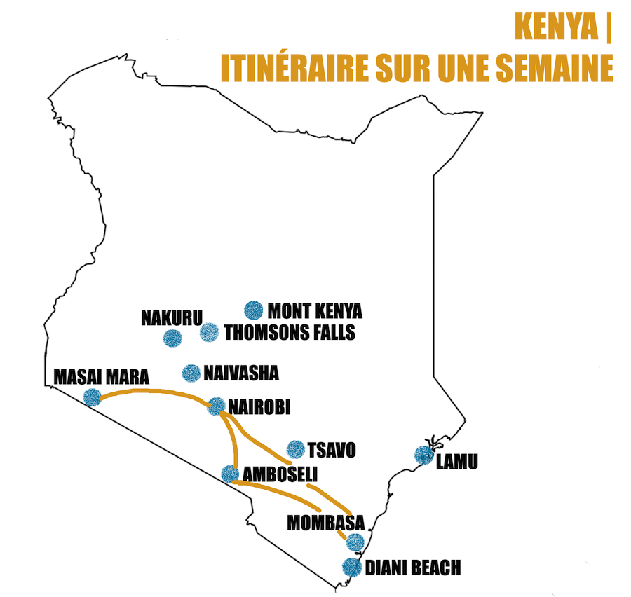 itinéraire kenya une semaine road trip