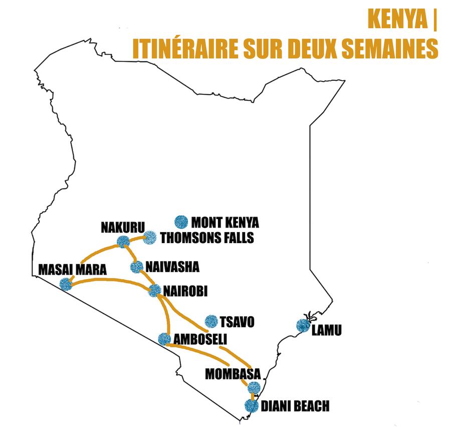 itinéraire kenya deux semaines road trip